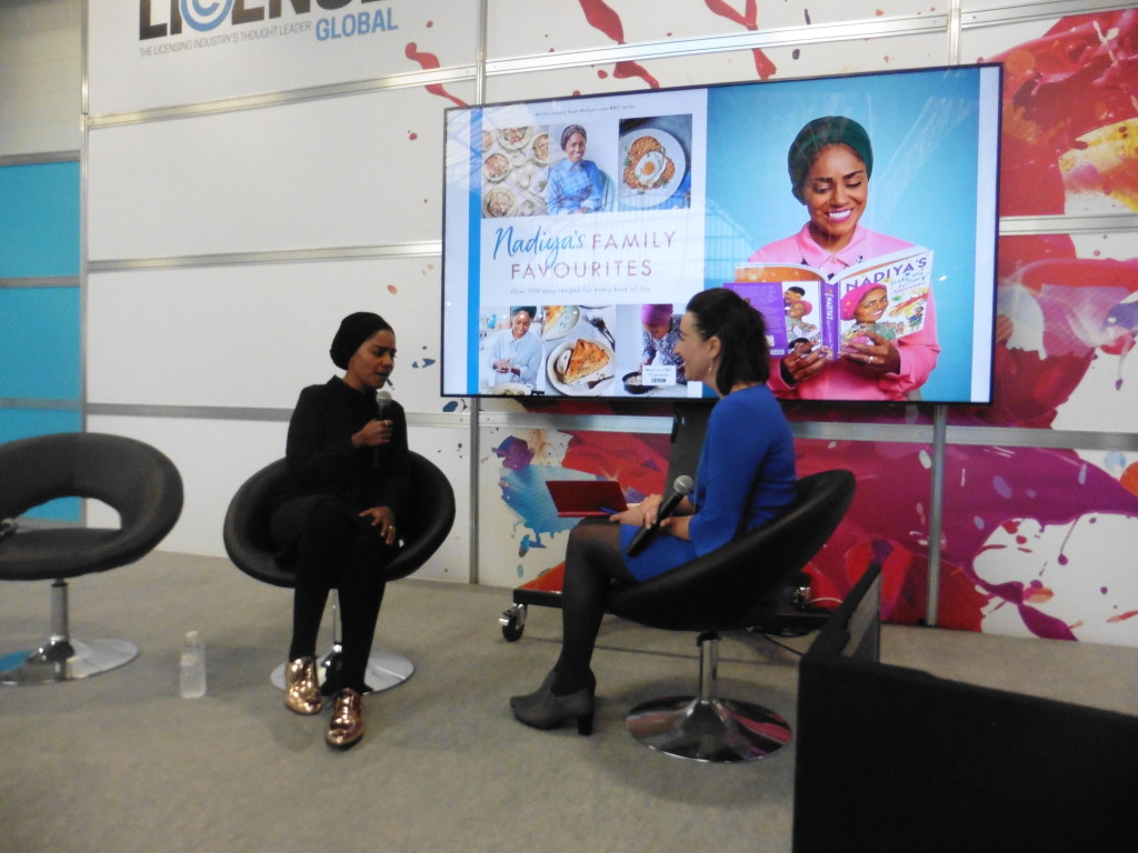 Above: Nadiya in conversation with Jessica Blue, SVP, Global Licensing Group at BLE.