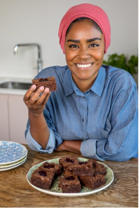 Above: Part of the home page of Nadiya's online shop.