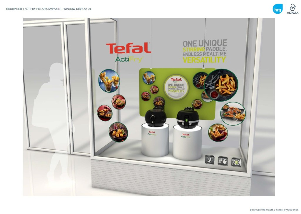 Above: Tefal's digital media campaign is accompanied by in-store POS material.