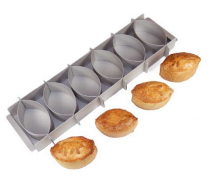 Above: Simon's award winning Silverwood Game Pie tins.