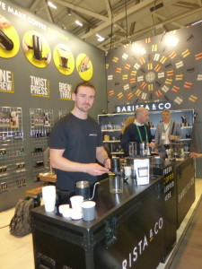 """Above: Barista & Co had its """"best show"""" ever."""
