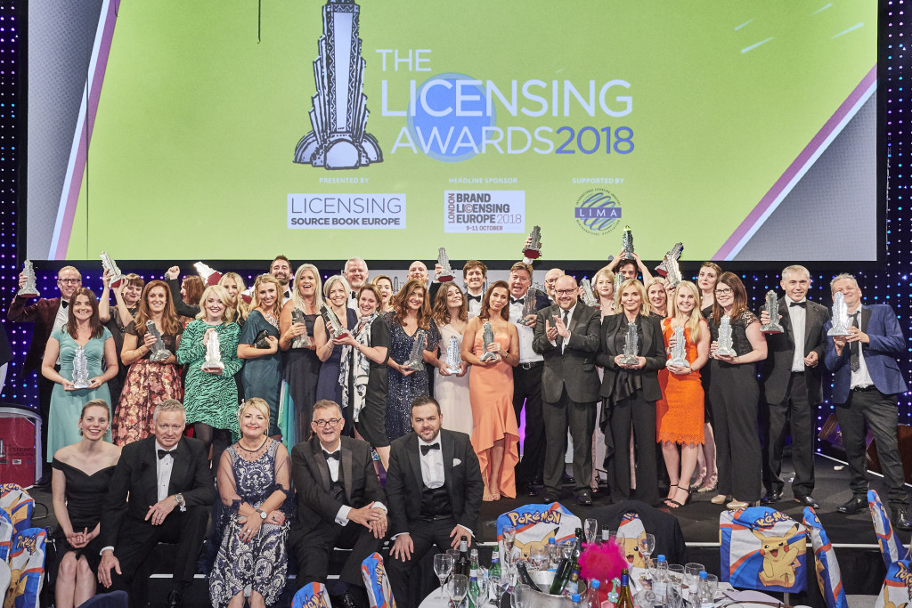 Above: The winners of The Licensing Awards 2018.