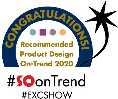 Above: New for 2019: the 'Recommended on Trend Product' award – recipients will be noticeable with this sign at the Exclusively Shows.