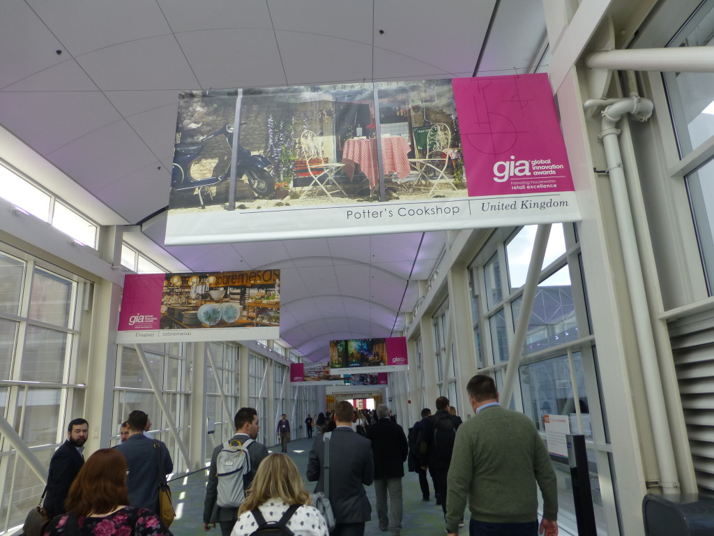 Above: Potters' banner over the walkway linking the IH+HS' main concourse with the Hall of Global Innovation in the Lakeside Centre.