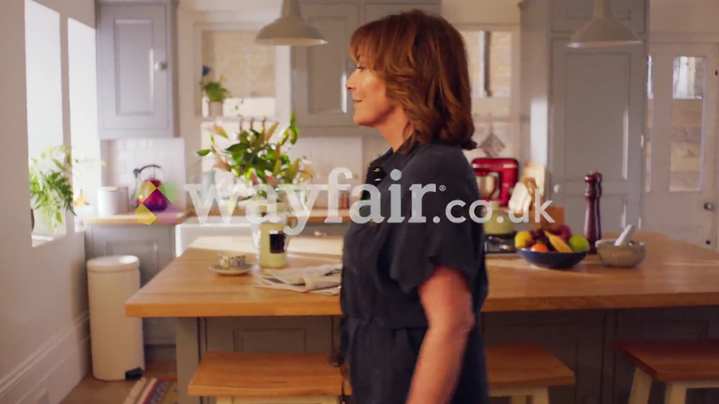 Above and below: Scenes from the new Wayfair ad featuring Lorraine Kelly.