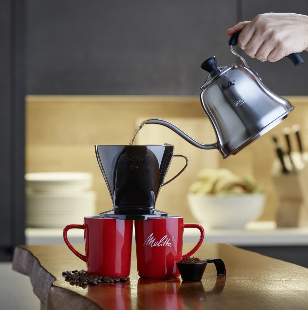 Above: Pour over coffee from Melitta.