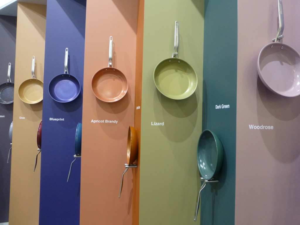Above: Whitford's gallery of 2019 colours at Ambiente.