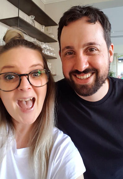 Above: Portmeirion's Sara Dickenson took a selfie with 2018 Bake Off contestant Dan, a father of two, who popped in to support the company's #GetTogether campaign.