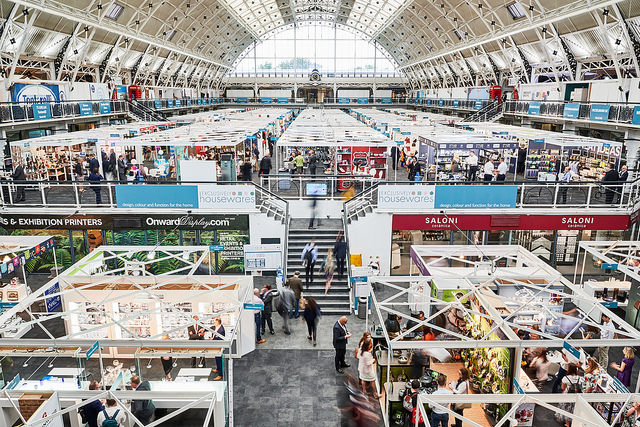 Above: View of Exclusively Housewares, the show owned by BHETA