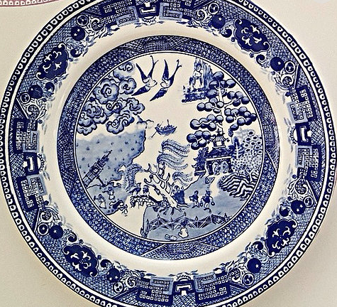 Above: The Weeping Willow plate by Brexit Ware.