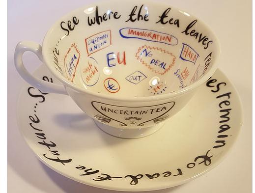 Above: Brexit Ware's Uncertain Tea cup.