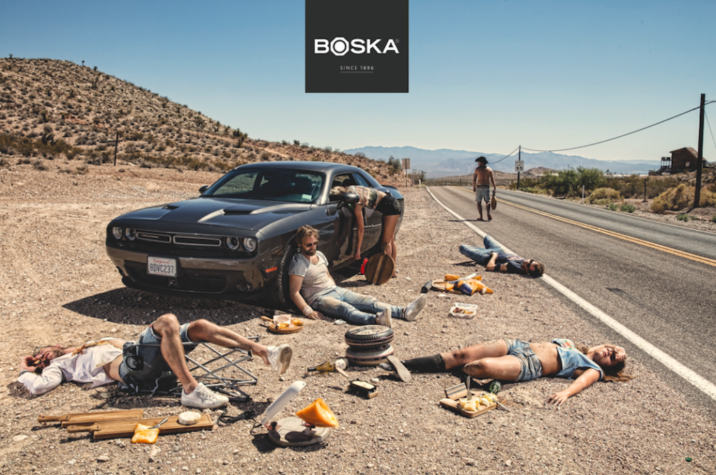 Above: 'Hangover' by Boska, featuring members of the Boska team.