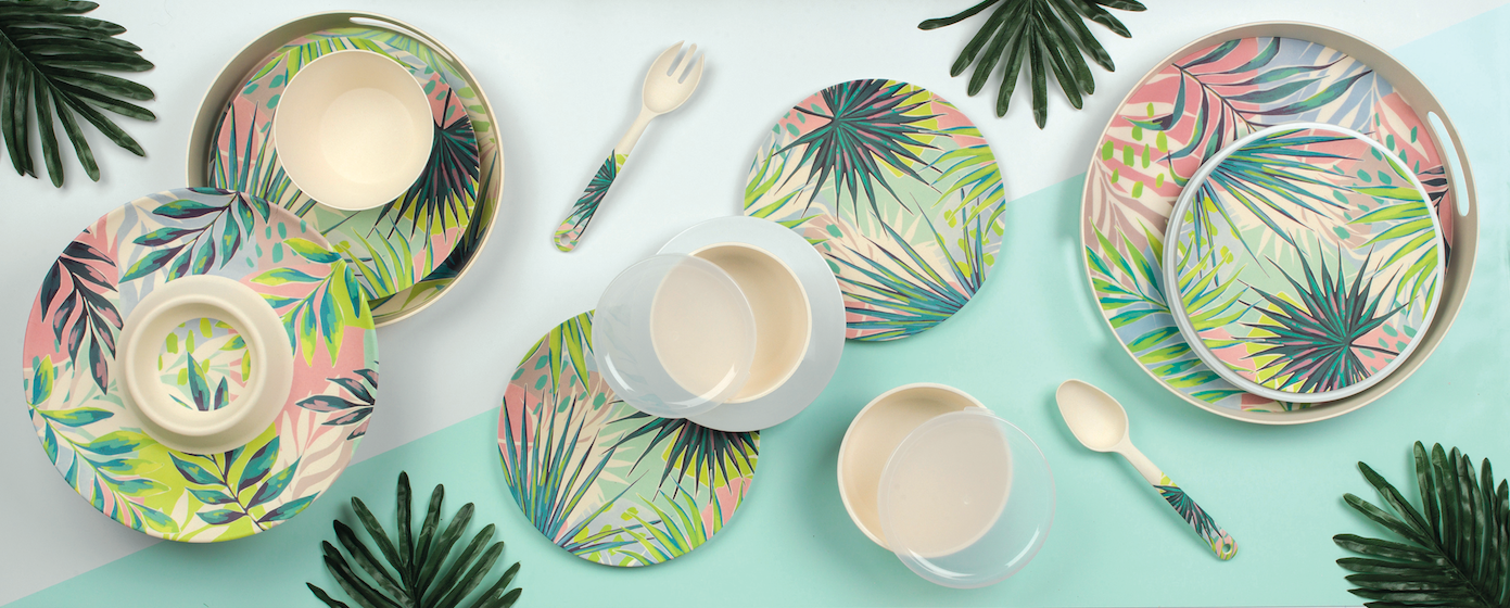 Above: One of the environmentally conscious products on show at Exclusively Housewares: Cambridge Kayan Bamboo Range from UPGS –made fromnatural bamboo fibre, the range provides a BPA-free alternative to traditional plastic dinnerware.