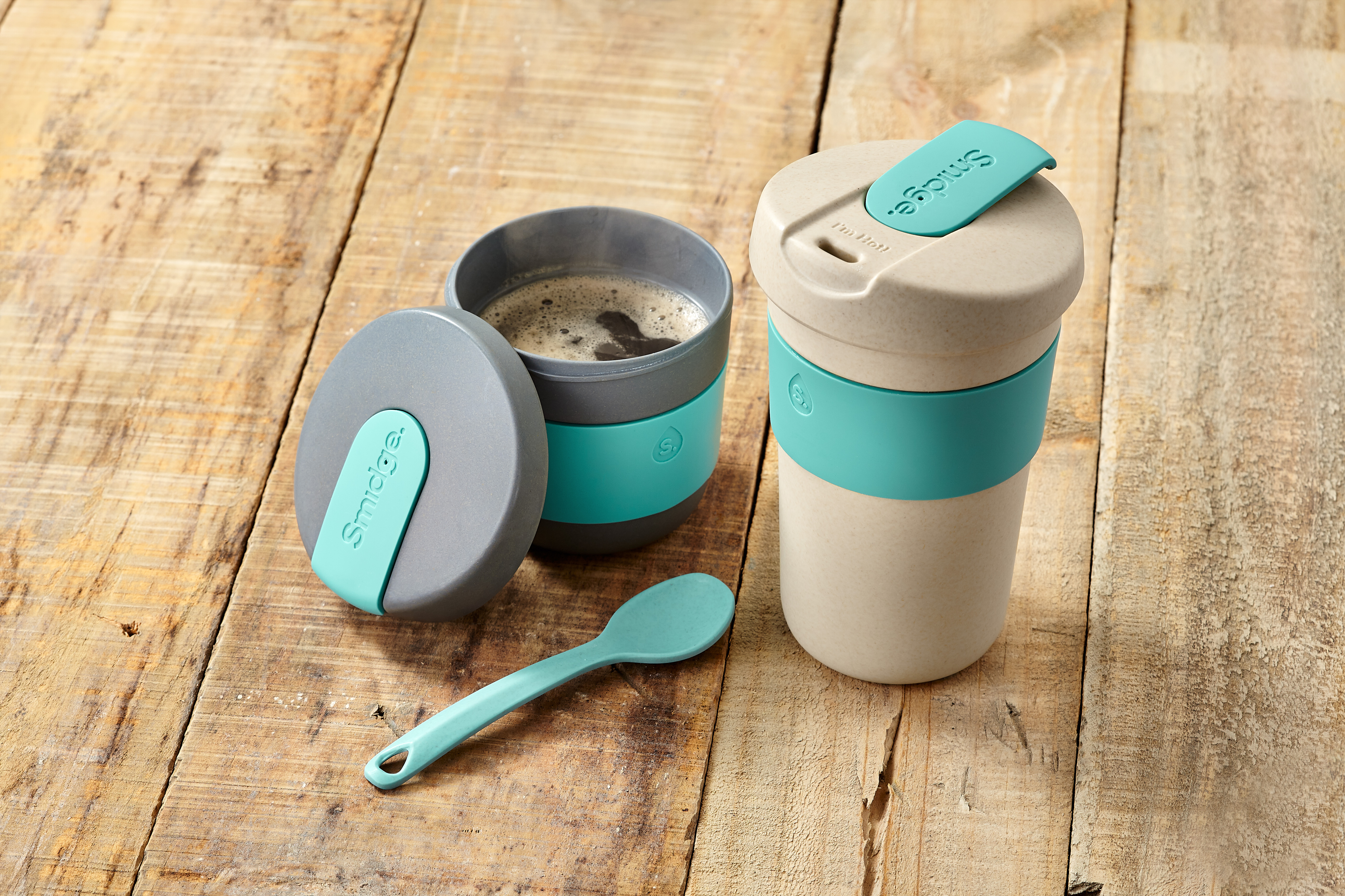 Smidge coffee cups from Horwood - an example of new product in the hydration category.