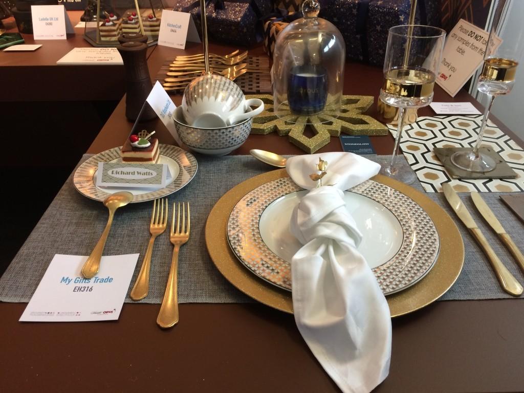Above: Tableware from My Gifts Trade and The Wentworth Tableware Company were among highlights for the luxurious dining trend.