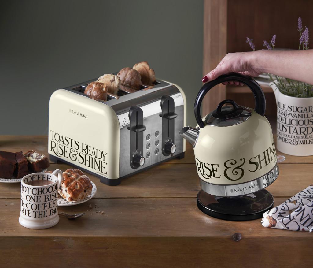 Above: Emma Bridgewater's Toast & Marmalade range from Russell Hobbs.