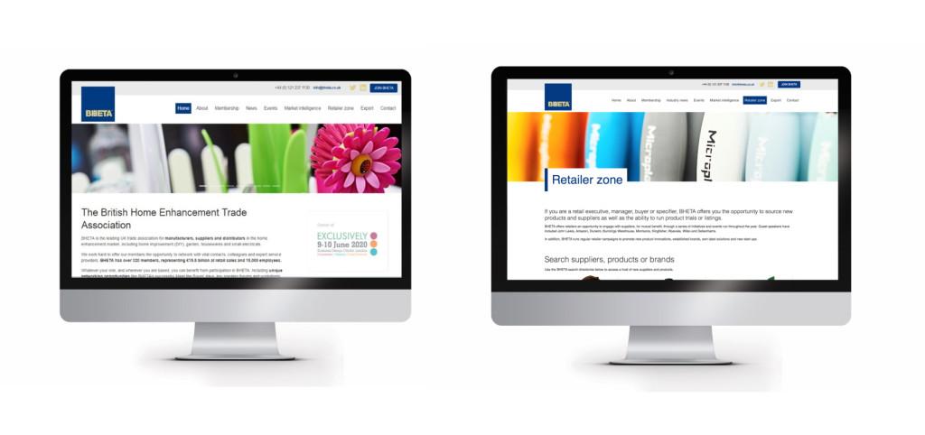 Above: Images from BHETA's award-winning website.