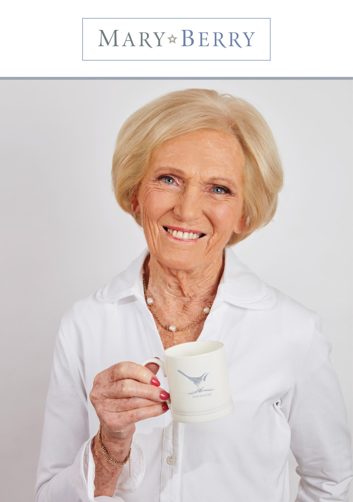Above: Mary Berry with one of her mugs from The English Garden Range.