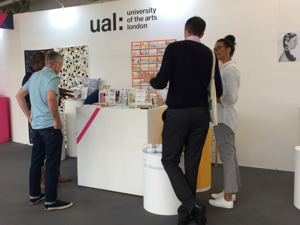Above: The University of the Arts (UAL) was a busy sector at Top Drawer, where nine of the university's students and alumni showcased their work, which included designs for mugs.
