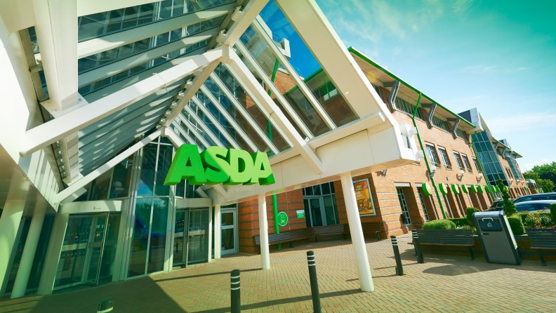 Above: Asda removed single knives from its shelves in April.
