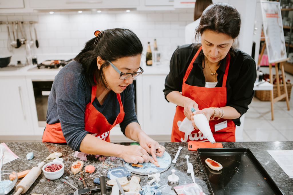Above: Food writer May Chung (left) and blogger Nicole of End of the Fork.