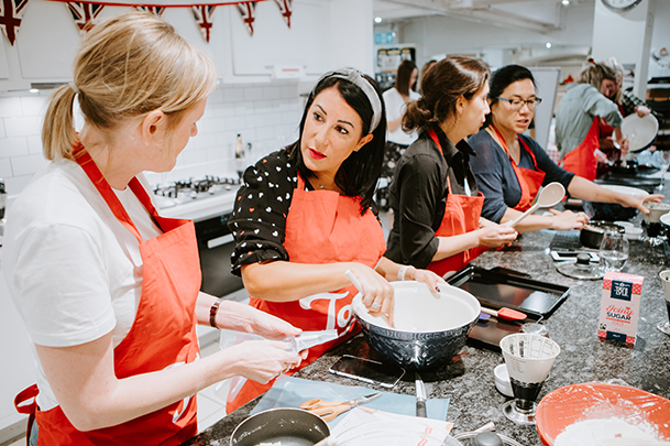 Above: The food writers and bloggers included (left to right): Hayley Merrick, Suzy Pelta, End of the Fork's Nicole, May and Sophie Foot.