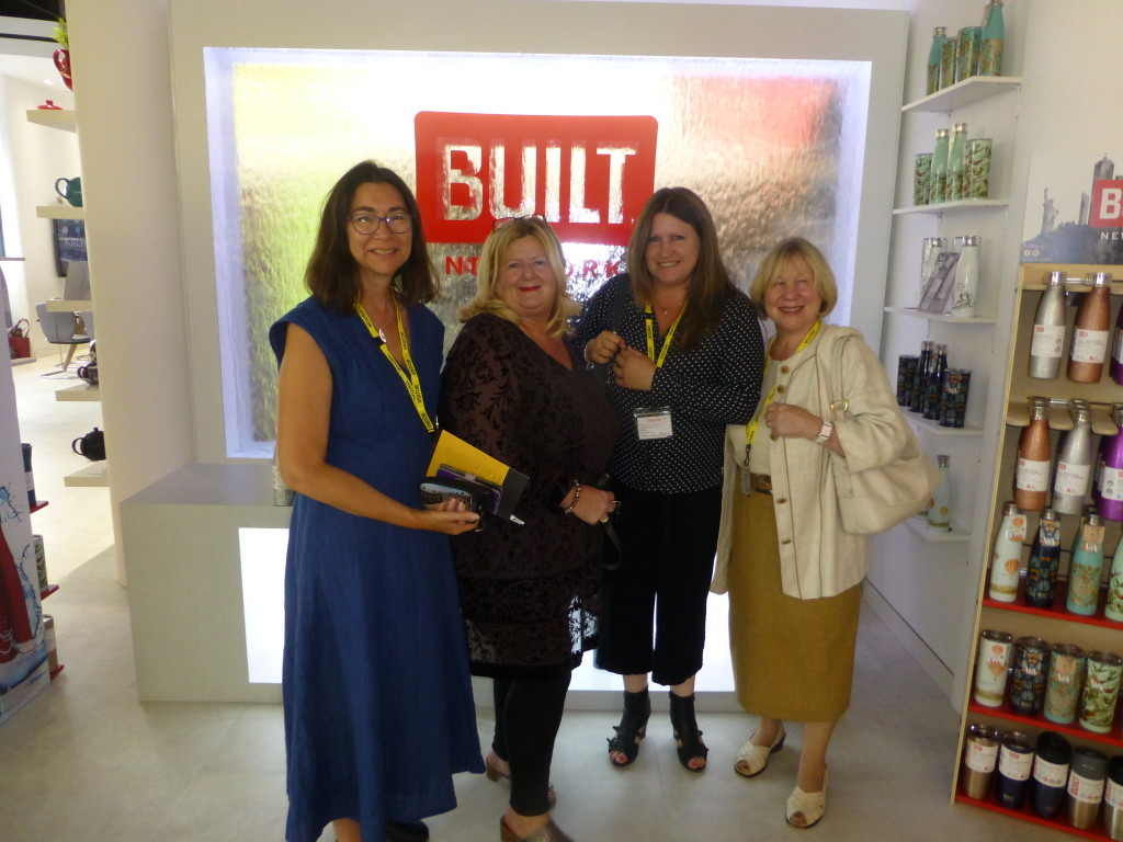Above: HousewaresNews' Jo Howard with other attendees: Kate Robinson of Paymaster, Kay Messina, head of HR for Lifetime Brands and Brigitte Birch of The London Pottery Company.