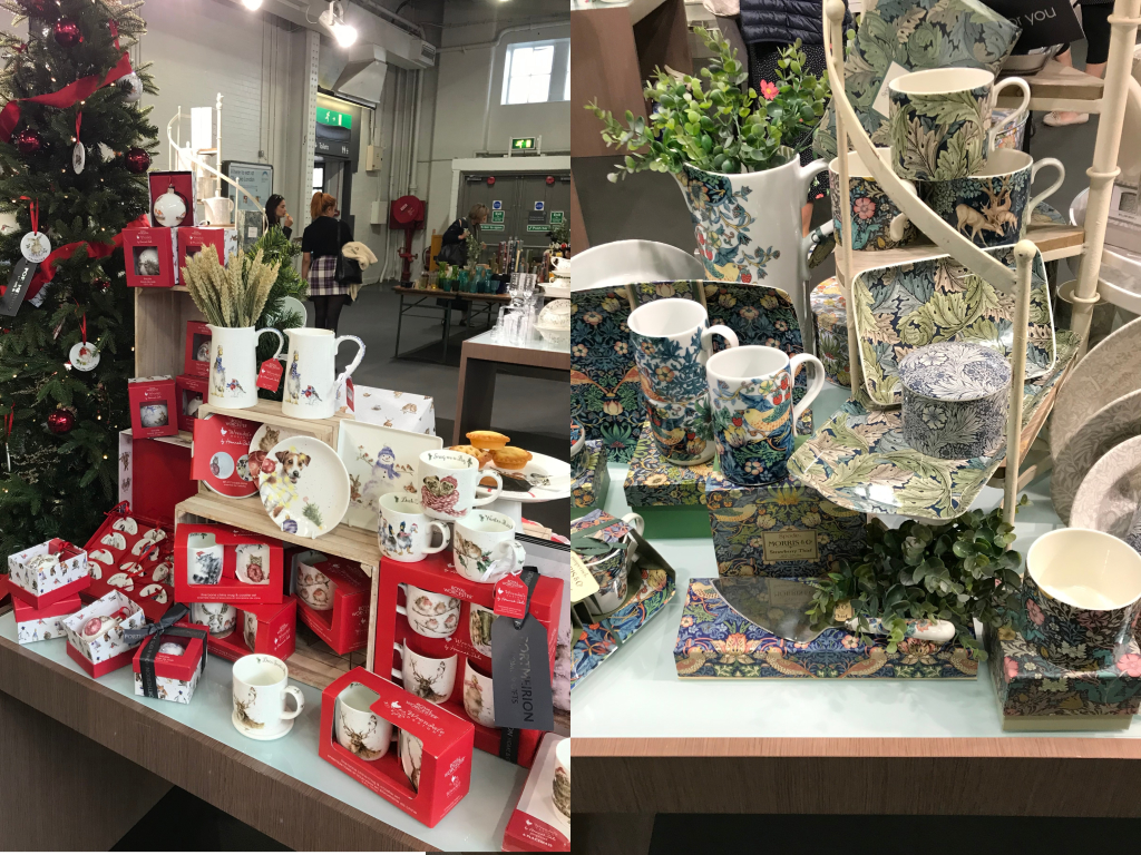 Above: Portmeirion Group showed how a Royal Worcester Wrendale Christmas display can charm consumers this festive season, and also highlighted the enduring beauty of William Morris designs in its display of Spode tableware.