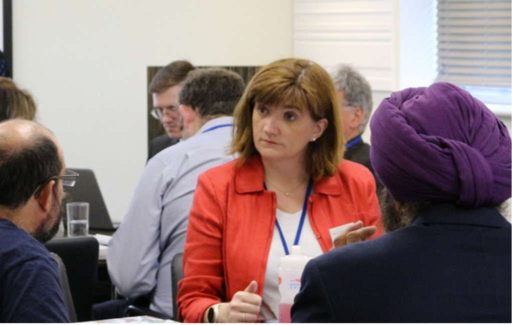 Above: The Rt Hon Nicky Morgan MP is shown at Bira's HQ in discussion with delegates earlier this year.