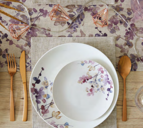 Above: Examples of this season's housewares trends from Dunelm.