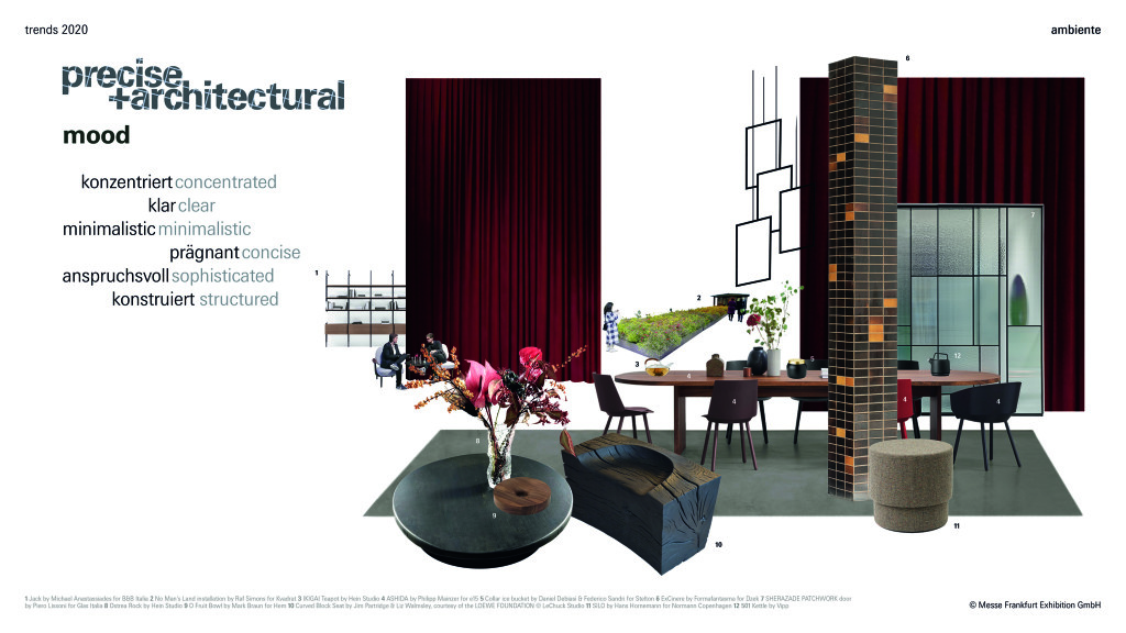 Above: Ambiente Trends 2020: 'precise + architectural'