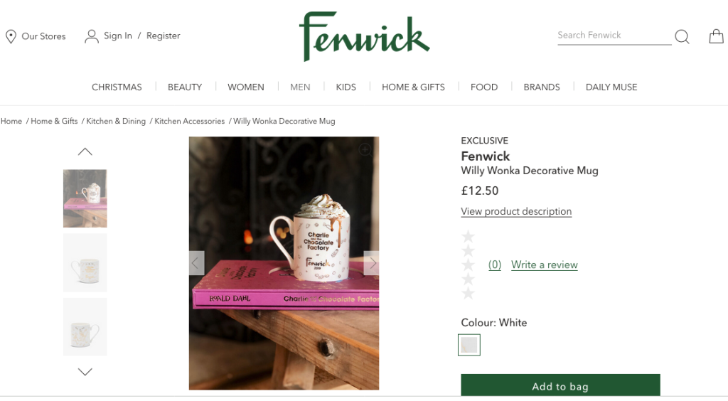 Above: Fenwick has embarked on ecommerce.