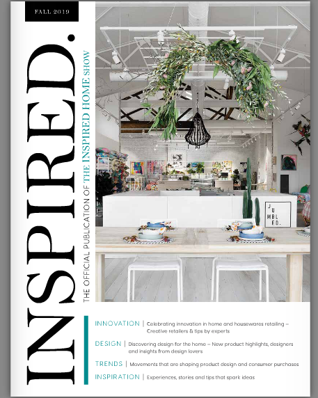 Above: The cover of the new INSPIRED, magazine, which features the 2019 gia Global Honoree retailers.