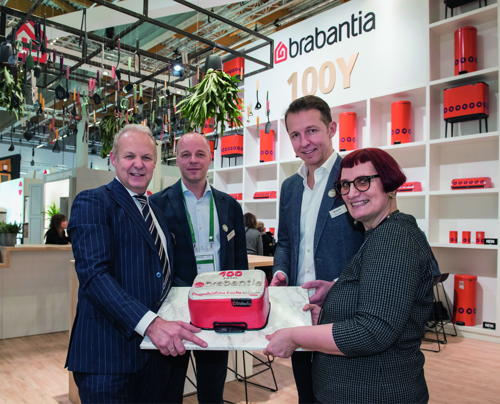 Above: Centenary cake for Brabantia at Ambiente 2019.