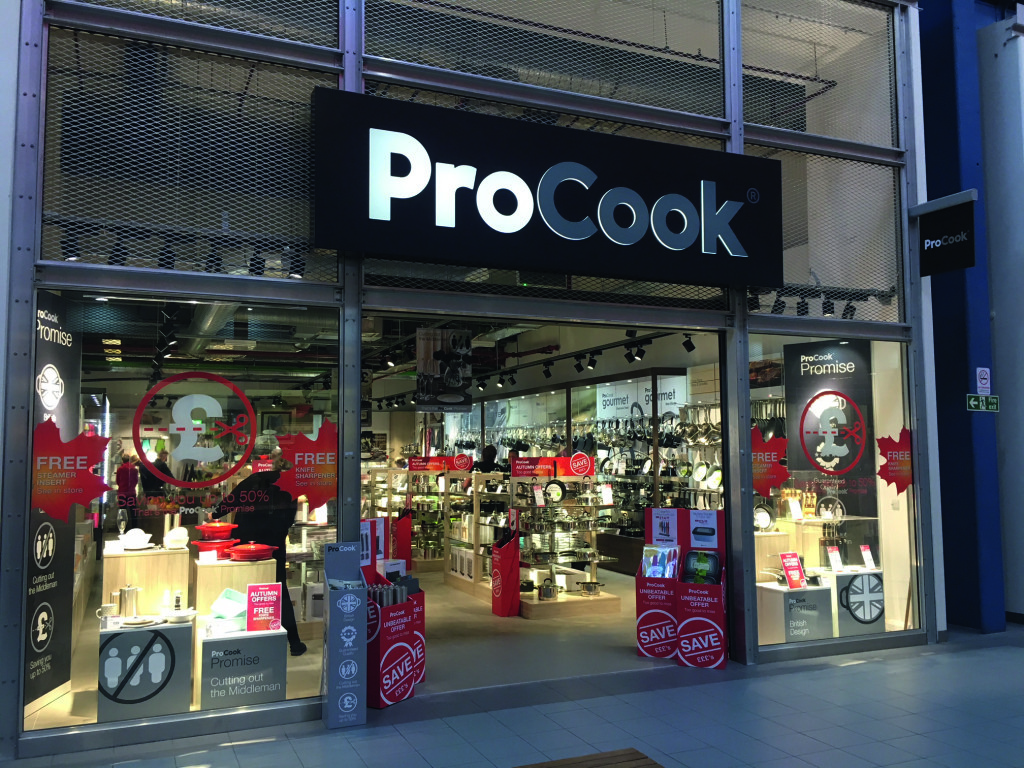 Above: ProCook – now on the high street.