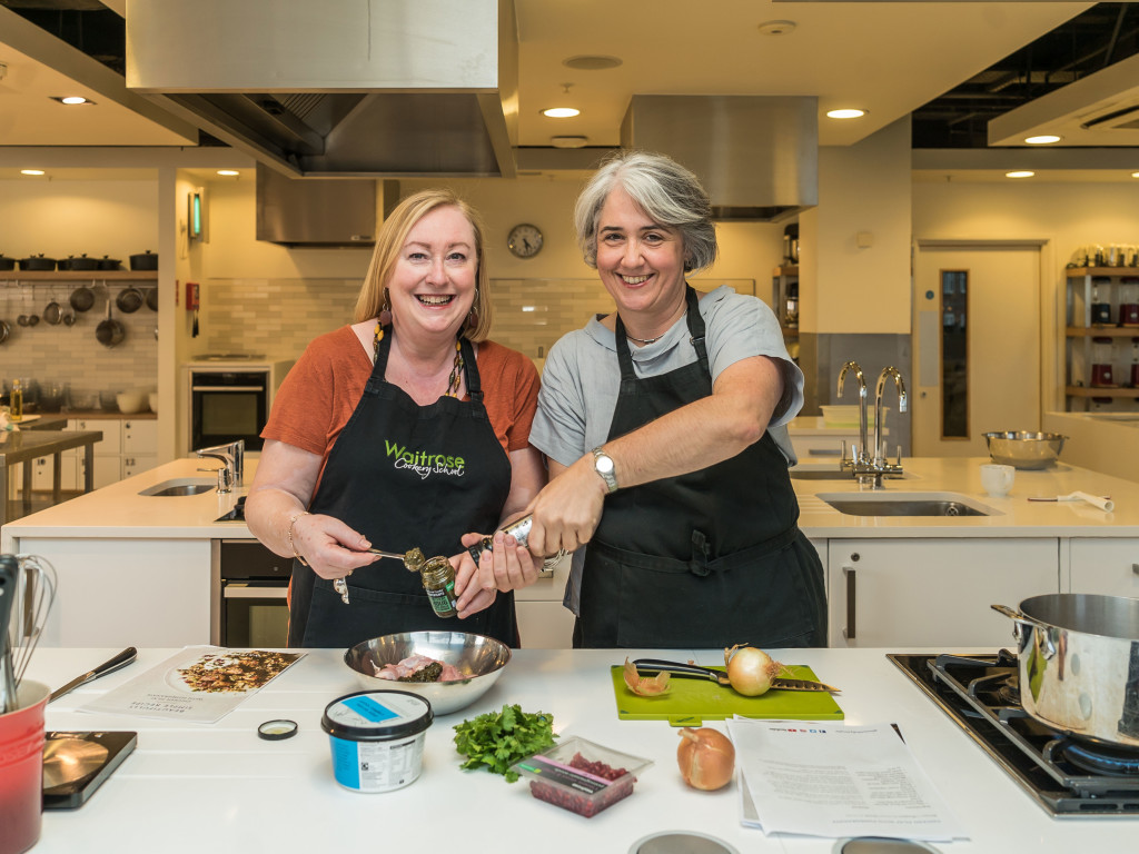 Above: The first Waitrose Cookery School has opened in a John Lewis & Partners store.