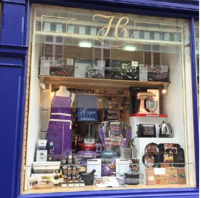 Above: Hargreaves of Buxton featured the Flavour Revival theme in its window.