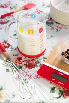 Above: Pebbly measuring jug.
