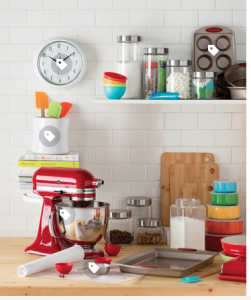 Above: Wayfair's site includes inspiration for styling kitchens, including this 'Modern Kitchen' look.
