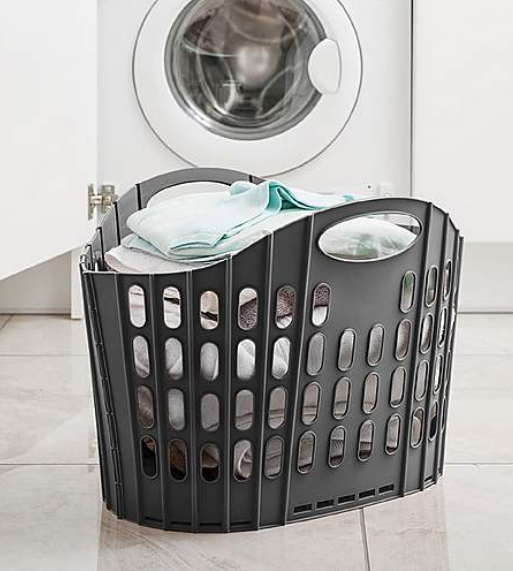 Above: Addis' Fold Flat Laundry Basket is a space saving solution.