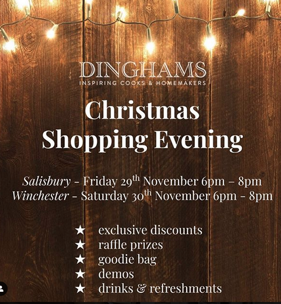 Above: Dinghams promoted its Christmas events in stores and on its social media.