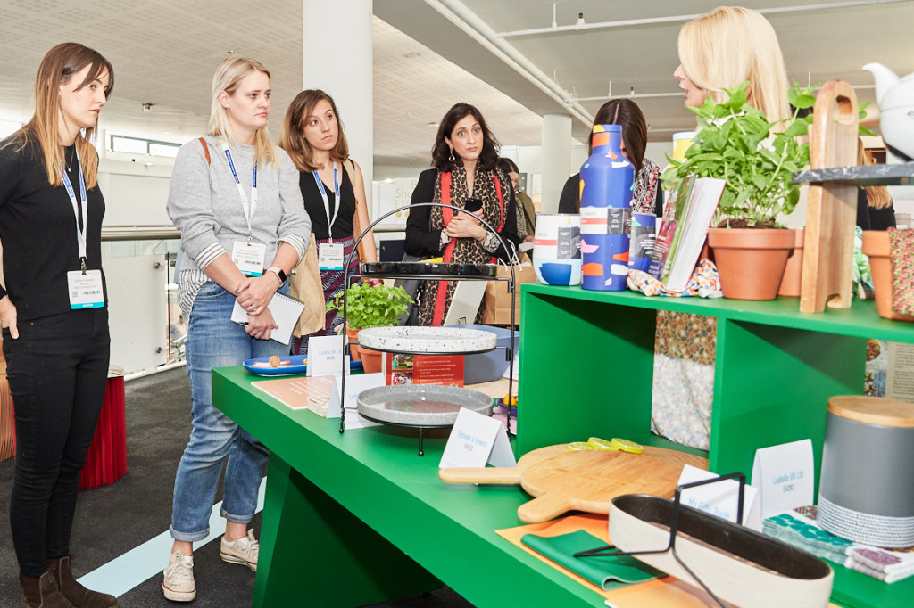 Above: Visitors focused on housewares trends at the Scarlet Opus' Trends Hub at the 2019 show.