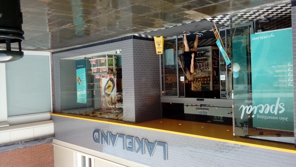 Above: Lakeland temporarily shut its shops last weekend.