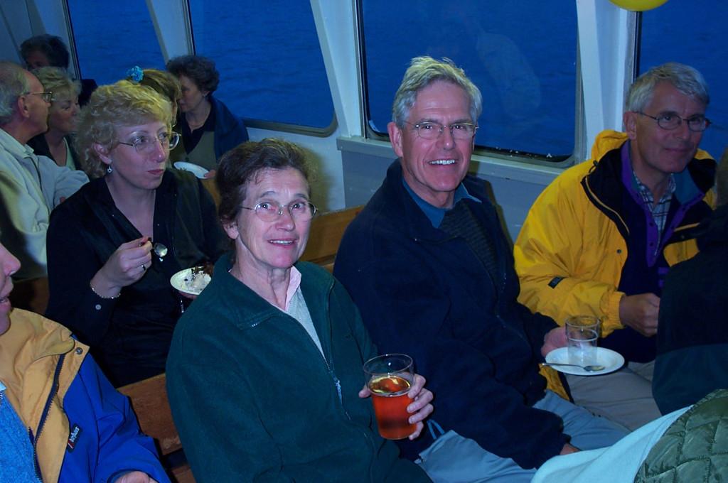 Above: Jennifer and John enjoying a social occasion.