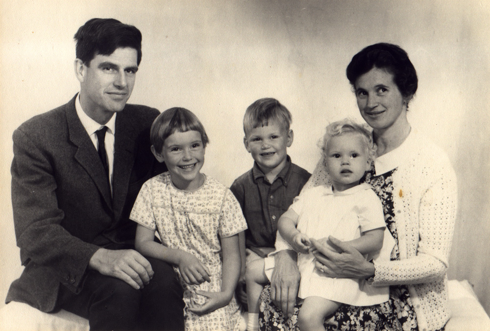 Above: Jennifer and John Lawson with their young family.