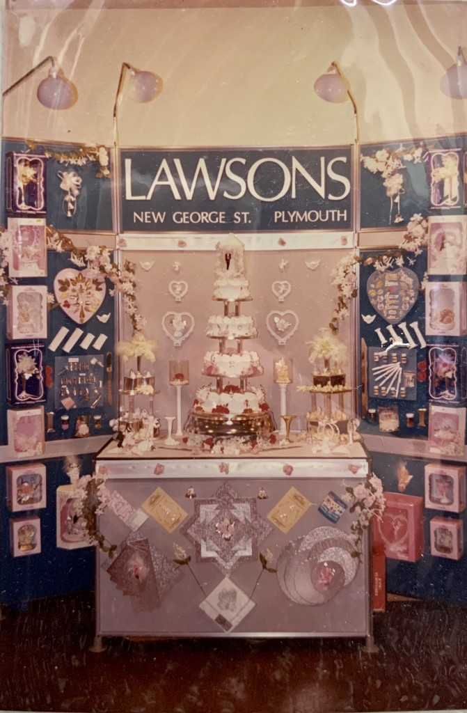 Above: A selection of the wedding cake decorations that Jennifer sourced for Lawsons.