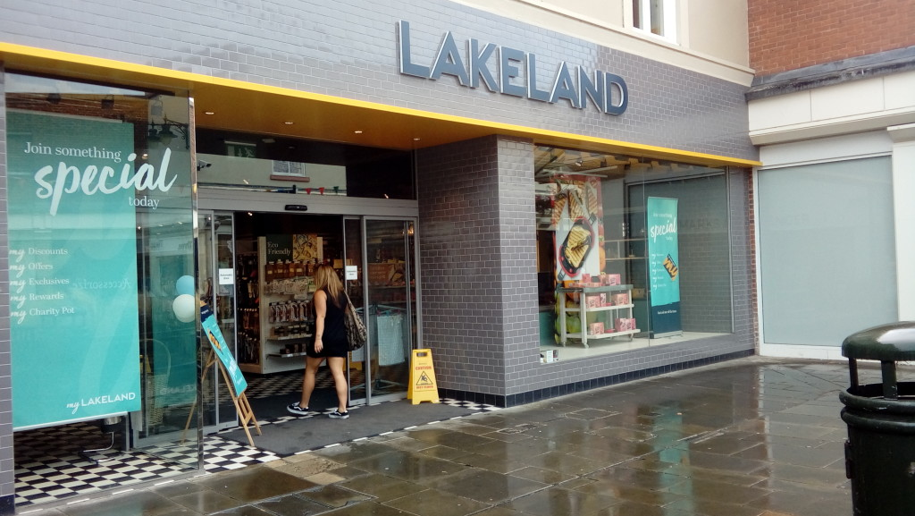 Above: Lakeland temporarily shut its shops last weekend.