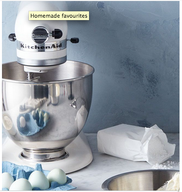 Above: John Lewis highlighted KitchenAid and other major SDA brands in its weekend e-marketing.