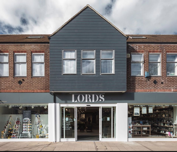 Above: Lords' largest store in Chorleywood maintains the two customer rule.