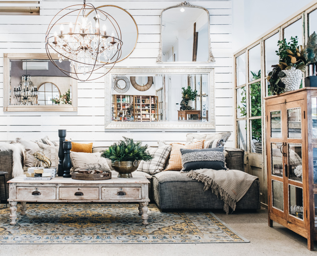 Above: The store embraces homely lifestyle settings.